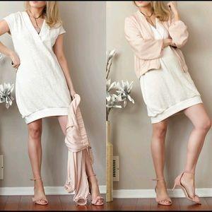 LOFT Lou & Grey Double V Dress Size Small